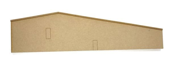 LX308-OO Ultra- Low Relief Industrial Unit / Warehouse End Wall Blanks (Set 1) - OO/4mm/1:76